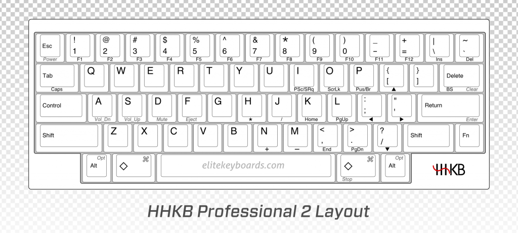hhkb layout arrow keys